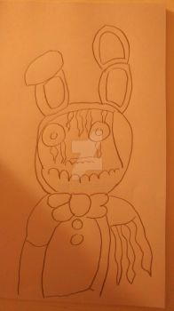 withered bonnie in progress by foxysfirstmate1987