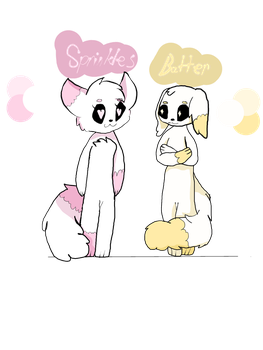 Floofes Pair- Sprinkles and Batter by BluAnnaDoodles