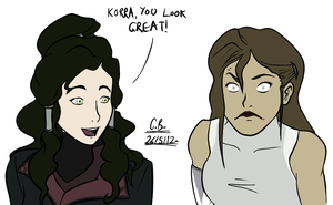 Korra and Asami - Face Swap by Cabriola