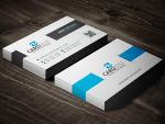 Awesome Clean Corporate Business Card Template by mengloong