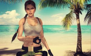 Lara_Croft_Beach by ivedada