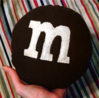 m_and_m cushion by hellohappycrafts