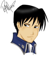 Roy Mustang Portrait by NailoSyanodel