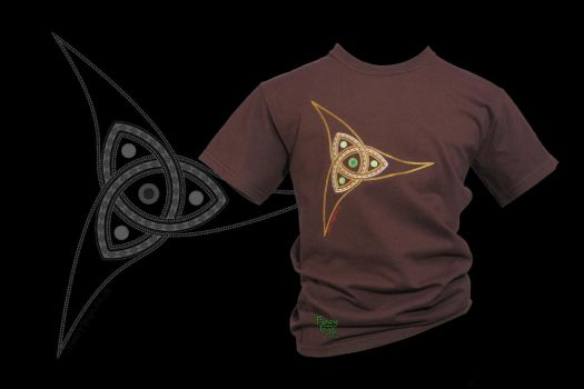 Norse Triquetra on Dark Chocolate T-shirt by FancyTogs