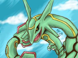 Rayquaza by Jesska-Lee