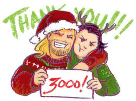 THANK YOU via Thor and Loki by beanclam