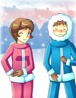 Ice climbers by VooDooDollMaster