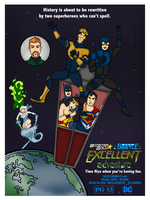 Booster Gold and Blue Beetle's Excellent Adventure by Femmes-Fatales