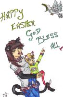 Happy Easter 2 by Meeowy
