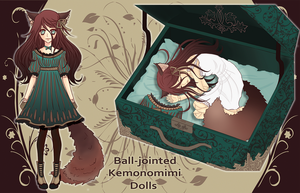 [CLOSED] Adopt BJD Kemonomimi Doll #3. (updated) by Aritsune-chan