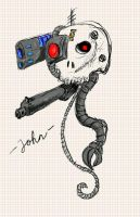 Servo Skull by JohnHazatoth
