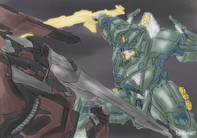 Mecha Battle Rough by Frost7