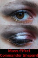 Commander Shepard Eye Make-Up by LadySiha
