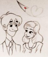 Paperman - meg and George by Emmi-Lou-Art