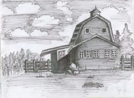 Barn House Sketch by Dies-a-Irae
