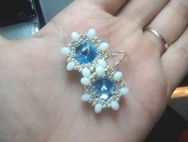 Ice Queen Earrings by beadg1rl