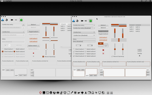 Light-Greyness-Orange-GTK Theme V1.1 by CraazyT