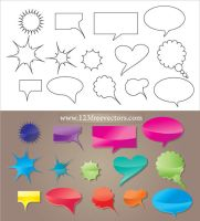 Speech Bubble Vector by 123freevectors