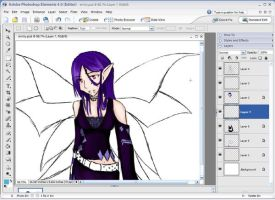 .: Vampirey Fairy :. Thing WIP by bell-chann