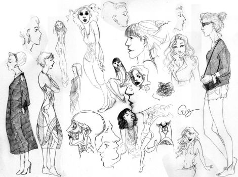 Women Sketches by palnk