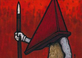 Pyramid Head - Red Room by Yamallow