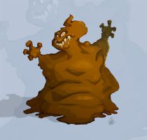 001 - Poop Monster by thisisnotnoah