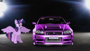 Alicorn Twilight Sparkle Nismo R34 GT-R Z-Tune by NSDrift