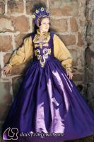 Purple and Gold Elizabethan by DaisyViktoria