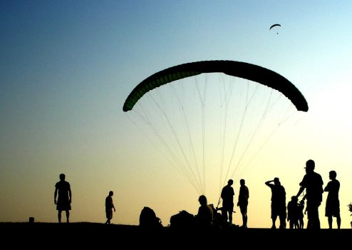paragliding by keremf