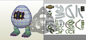 Digimon Digitamamon Papercraft by HellswordPapercraft