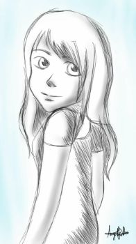 Anime Girl Sketch by AngelineDeeMG
