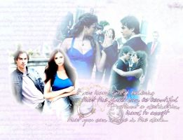 Delena in blue by softandOnLy