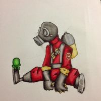 A pyro in marker by KittensInABlenDur