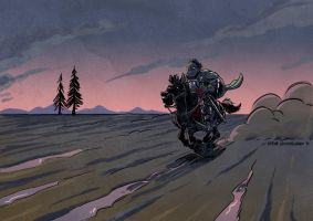The Hound and the Ghost by SteveLeCouilliard