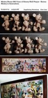Mickey Mouse 100 Years of Disney Wall Plaque by sculptor101