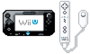 Wii U Gamepad and Wii Remote Pixel Art by LustriousCharming