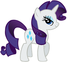 My third vector of Rarity. by Flutterflyraptor