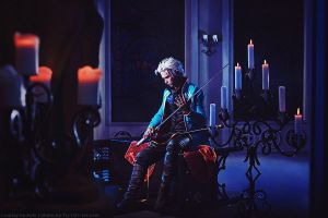 Dark castle. Devil may cry: Vergil cosplay by TaisiaFlyagina