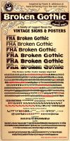 Broken Gothic Vintage Dispaly Sign Poster Font by Phrostbyte64