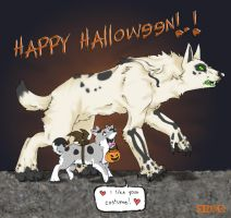 .Halloween Lurve. by Muddpuppy