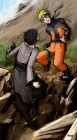 Naruto vs Sasuke by Mzag