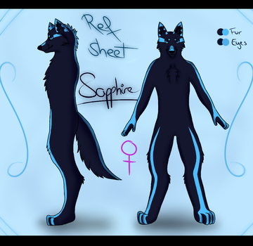 Sapphire's antro form - Ref Sheet by Ziiari