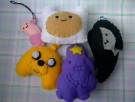Adventure Time Keychains (For Sale) by ChloeyLovesLlamas