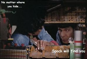 Sneaky Spock by soulOFironANDsand