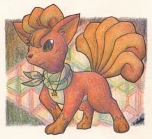 Skylar the Vulpix by Yakalentos