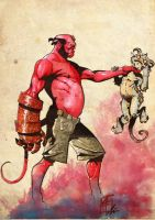 HELLBOY SKETCH by feliu
