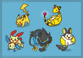 Electric Pokemon Vector Set by pookat