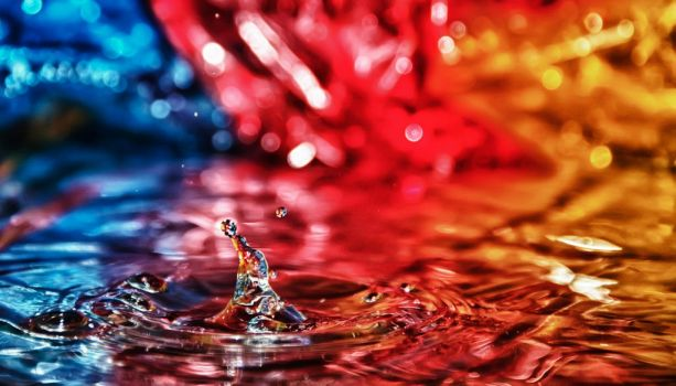 Water Dance Drops HDR by Creative--Dragon