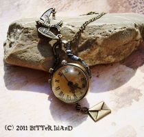 Messanger Watch Pendant by LaOubliette