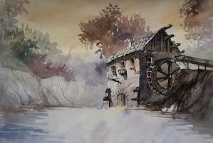 watercolor by gorzkaczekoladka